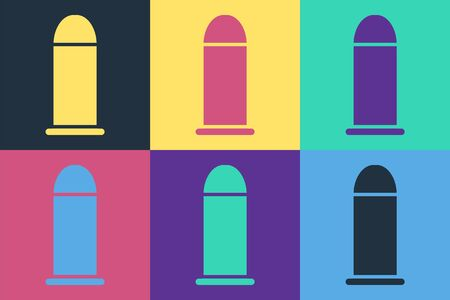Pop art Bullet icon isolated on color background. Vector Illustration