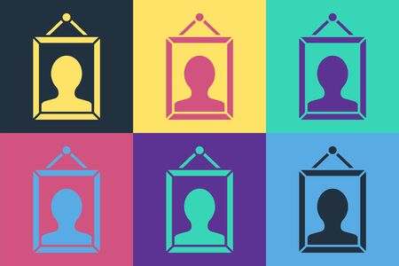 Pop art Picture icon isolated on color background. Vector Illustration Ilustracja