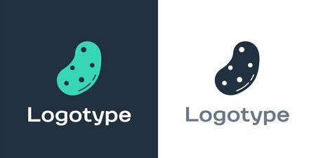 Logotype Potato icon isolated on white background. Logo design template element. Vector Illustration