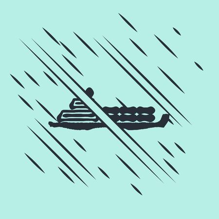 Black Oil tanker ship icon isolated on green background. Glitch style. Vector Illustration Illustration