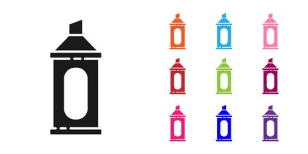 Black Marker pen icon isolated on white background. Set icons colorful. Vector Illustration