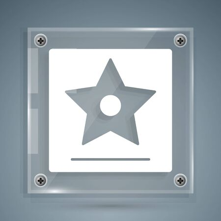 frame star icon isolated on grey background.
