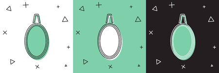 Set Mirror icon isolated on white and green, black background.  Vector Illustration