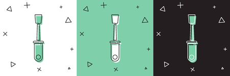Set Screwdriver icon isolated on white and green, black background. Service tool symbol.  Vector Illustration