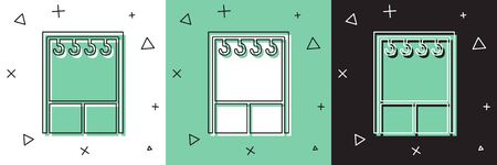 Set Wardrobe icon isolated on white and green, black background. Vector Illustration