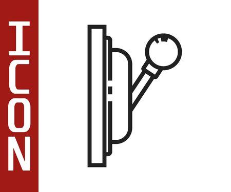 Black line Electrical panel icon isolated on white background. Switch lever. Vector Illustration Vektorgrafik