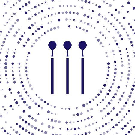 Blue Matches icon isolated on white background. Abstract circle random dots. Vector Illustration