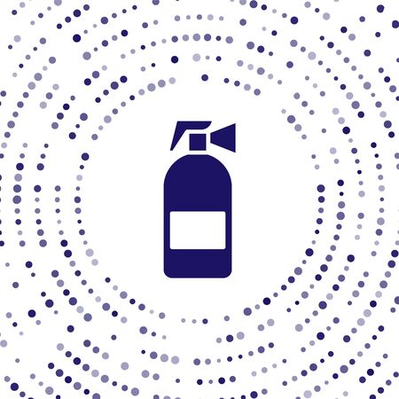 Blue Fire extinguisher icon isolated on white background. Abstract circle random dots. Vector Illustration 向量圖像
