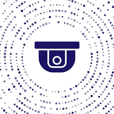 Blue Motion sensor icon isolated on white background. Abstract circle random dots. Vector Illustration