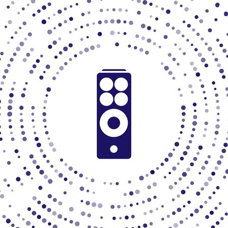 Blue Remote control icon isolated on white background. Abstract circle random dots. Vector Illustration