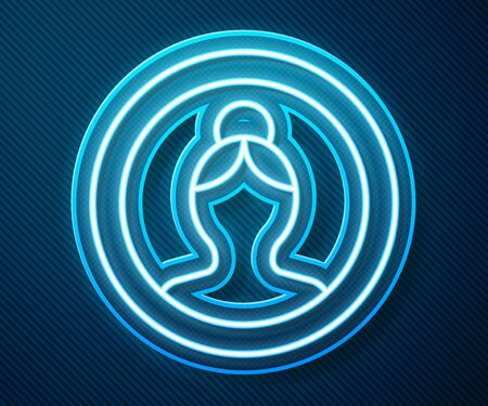 Glowing neon line Create account screen icon isolated on blue background. Vector Illustration 版權商用圖片 - 143298010