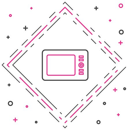 Line Graphic tablet icon isolated on white background. Colorful outline concept. Vector Illustration