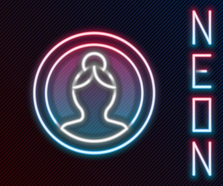 Glowing neon line Create account screen icon isolated on black background. Colorful outline concept. Vector Illustration Ilustracja