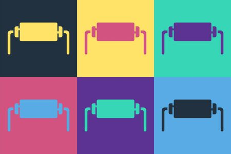 Pop art Resistor electricity icon isolated on color background. Vector