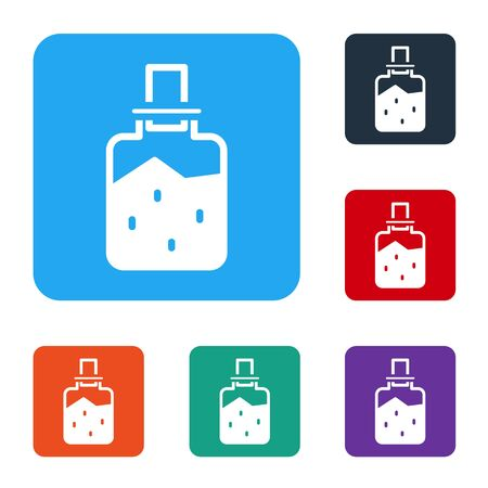 White Spa salt icon isolated on white background. Set icons in color square buttons. Vector Ilustracja