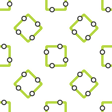 Line Electric circuit scheme icon isolated seamless pattern on white background. Circuit board. Vector Illustration