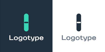 Logotype Nail file icon isolated on white background. Manicure tool. Logo design template element. Vector Illustration Illustration