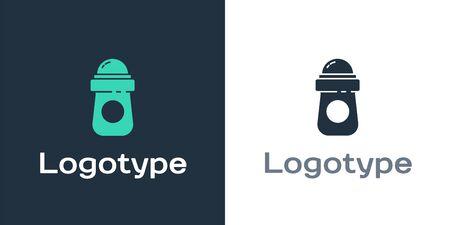 Logotype Antiperspirant deodorant roll icon isolated on white background. Cosmetic for body hygiene. Logo design template element. Vector Illustration Ilustracja