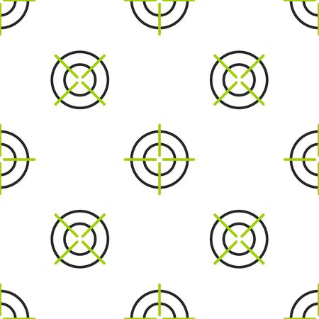 Line Target sport icon isolated seamless pattern on white background. Clean target with numbers for shooting range or shooting. Vector Illustration.