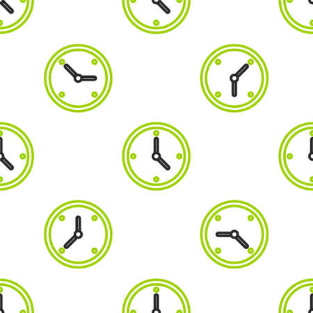 Line Fast time delivery icon isolated seamless pattern on white background. Timely service, stopwatch in motion, deadline concept, clock speed.  Vector Illustration. Illustration
