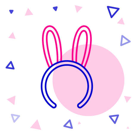 Line Mask with long bunny ears icon isolated on white background. Fetish accessory. Sex toy for adult. Colorful outline concept. Vector Illustration. 写真素材 - 150640661
