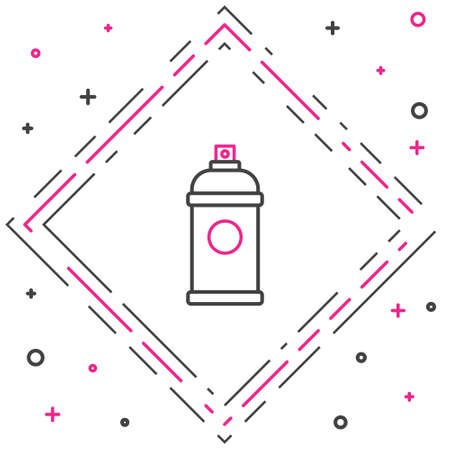 Line Paint spray can icon isolated on white background. Colorful outline concept. Vector Illustration. Stock Illustratie
