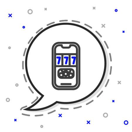 Line Casino poker tournament invitation icon isolated on white background. Casino card. Colorful outline concept. Vector Illustration. Ilustrace
