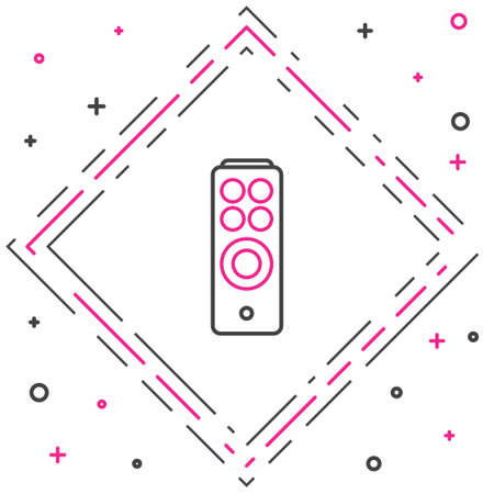 Line Remote control icon isolated on white background. Colorful outline concept. Vector Illustration. 向量圖像