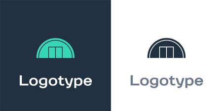 Logotype Warehouse icon isolated on white background.