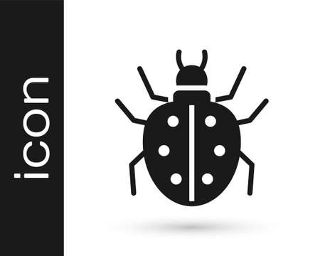 Black Mite icon isolated on white background. Vector.
