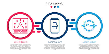 Set line Ampere meter, multimeter, voltmeter, Electric light switch and Electric circuit scheme. Business infographic template. Vector. 向量圖像