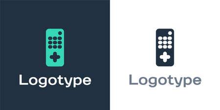 Logotype Remote control icon isolated on white background. 向量圖像