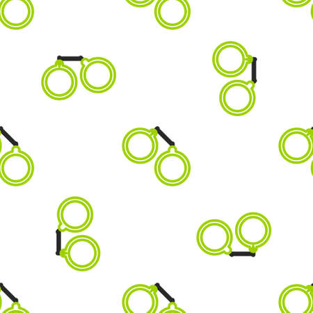 Line Handcuffs icon isolated seamless pattern on white background. Vector Illustration Vectores