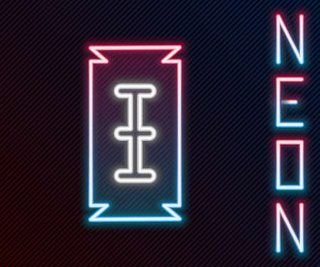 Glowing neon line Blade razor icon isolated on black background. Colorful outline concept. Vector Illustration