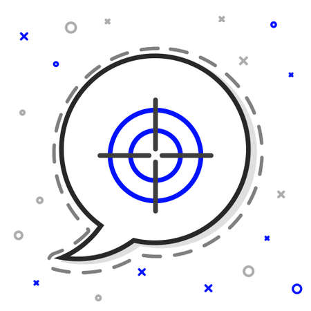 Line Target sport icon isolated on white background. Clean target with numbers for shooting range or shooting. Colorful outline concept. Vector Illustration Illusztráció