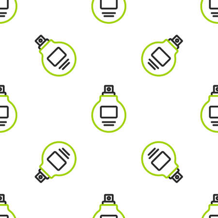 Line Perfume icon isolated seamless pattern on white background. Vector Illustration