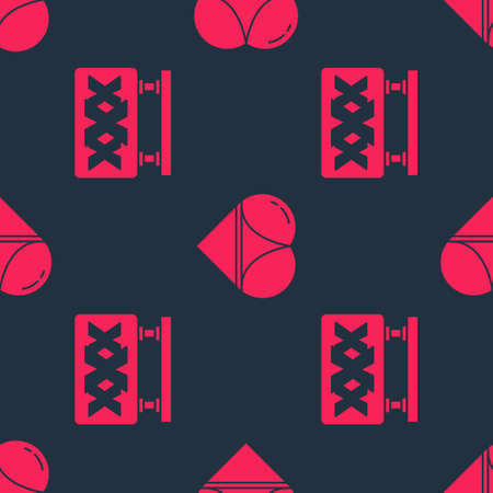 Set Sex shop and Woman panties on seamless pattern. Vector