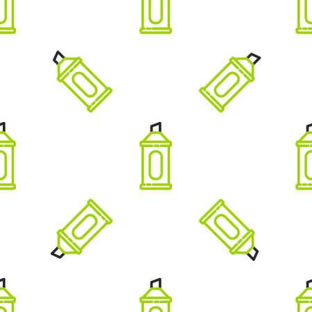 Line Marker pen icon isolated seamless pattern on white background. Vector Illustration Illusztráció