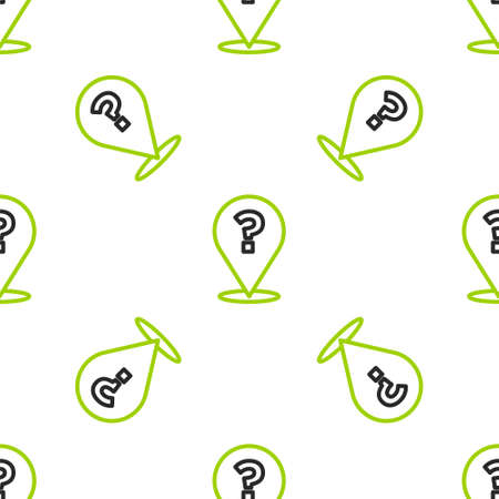 Line Question mark icon isolated seamless pattern on white background. FAQ sign. Copy files, chat speech bubble and chart. Vector