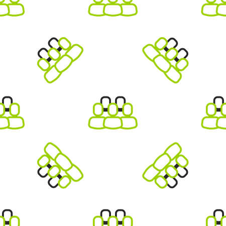 Line Project team base icon isolated seamless pattern on white background. Business analysis and planning, consulting, team work, project management. Vector