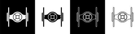 Set Cosmic ship icon isolated on black and white background. Vector 일러스트