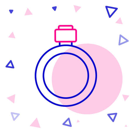 Line Canteen water bottle icon isolated on white background. Tourist flask icon. Jar of water use in the campaign. Colorful outline concept. Vector  イラスト・ベクター素材