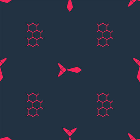 Set Chemical formula and Tie on seamless pattern. Vector