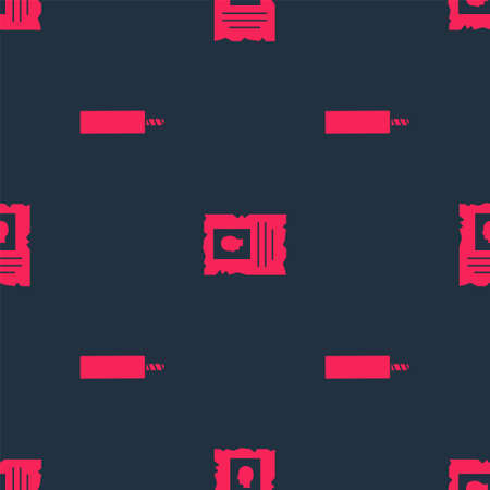 Set Dynamite bomb and Wanted western poster on seamless pattern. Vector
