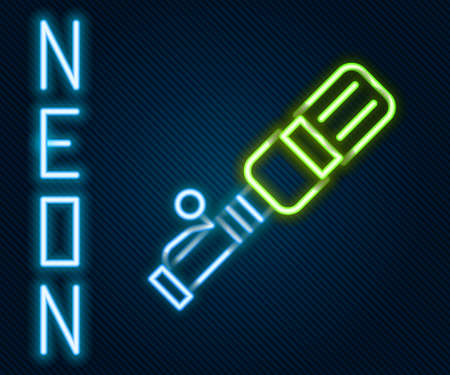 Glowing neon line RKG 3 anti-tank hand grenade icon isolated on black background. Colorful outline concept. Vector