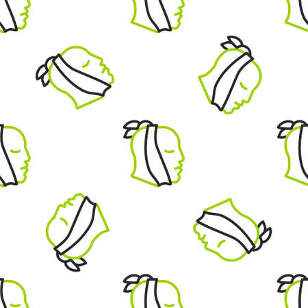 Line Toothache icon isolated seamless pattern on white background. Vector