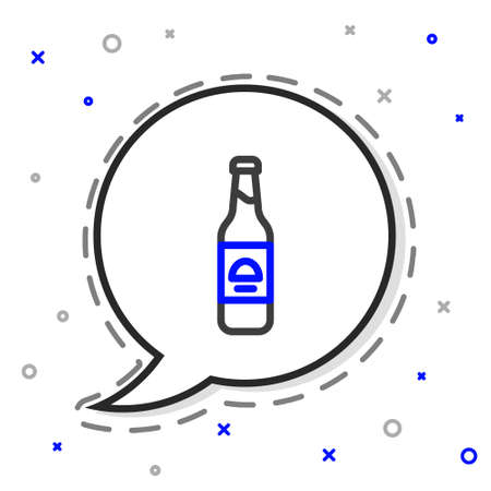 Line Beer bottle icon isolated on white background. Colorful outline concept. Vector 向量圖像