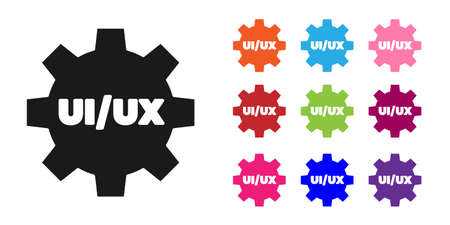 Black UI or UX design icon isolated on white background. Set icons colorful. Vector Illustration