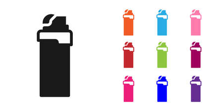 Black Lighter icon isolated on white background. Set icons colorful. Vector Stock fotó - 157243987
