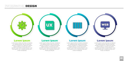 Set Website statistic, UI or UX design, Color palette guide and and graphic. Business infographic template. Vector 矢量图像